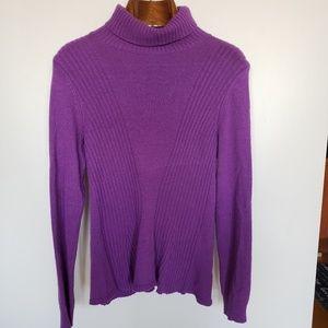 Ralph Lauren // peplum turtleneck sweater